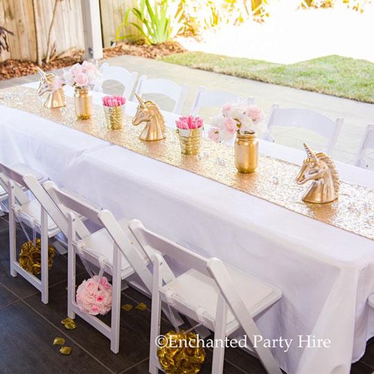 6ft buffet table enchanted party hire rh enchantedpartyhire com au buffet table linens