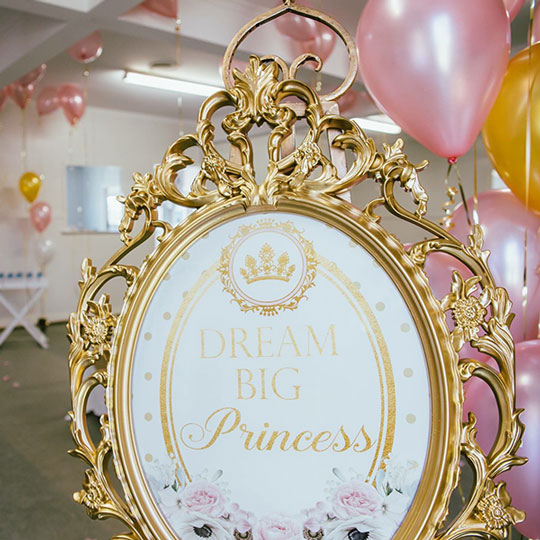 b5e27dcdc20 Ornate Frame with Image - Enchanted Party Hire